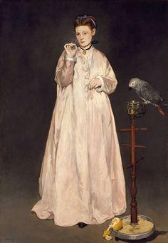 Édouard Manet - La Femme au perroquet