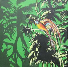 Acrylmalerei - Dschungel - ein Designerstück von Mi-Ma-Maren bei DaWanda