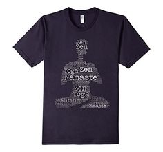 Namaste Zen Meditation Word Art T-Shirt | Slim Yoga...