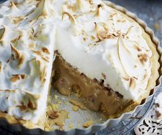Caramel meringue pie recipe - By Australian Women& Weekly, Sweet, soft and rich, this caramel meringue pie is the perfect comfort food dessert. Banoffee Pie, Tarte Caramel, Caramel Tart, Best Dessert Recipes, Fun Desserts, Pie Recipes, Sweets Recipes, Easter Recipes, Baking Recipes