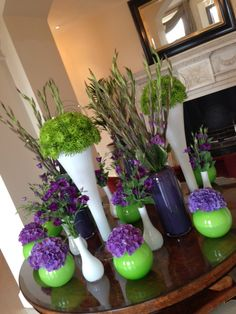 Wimbledon colours in this week's display at Four Seasons Hotel Hampshire