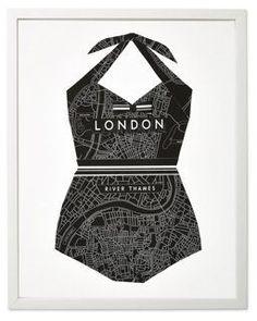 Dawn Wolfe, Bathing Suit: London Map