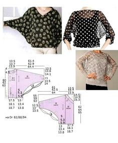 New sewing patterns free tops blouses patron de couture Ideas Dress Sewing Patterns, Blouse Patterns, Sewing Patterns Free, Clothing Patterns, Blouse Designs, Free Pattern, Fabric Sewing, Skirt Patterns, Coat Patterns