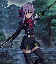 Owari no Seraph, Seraph of the End, Shinoa Hiragi, Uploaded by : Stella Scalet Chica Anime Manga, Otaku Anime, Anime Art, Fanarts Anime, Anime Characters, Shinoa Hiiragi, Mikaela Hyakuya, Vampire Girls, Seraph Of The End