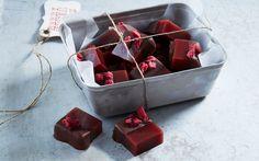 Chokladdoppad hallonkola