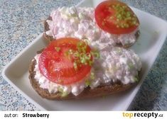 Lehká cottage pomazánka recept - TopRecepty.cz Mango Recipes, No Salt Recipes, New Menu, Party Snacks, Bon Appetit, Ham, Catering, Smoothies, Muffin