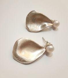 #kolczyki #srebro #perły #biżuteriaartystyczna #margotstudio