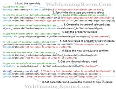 C# reflection example What Is Reflection, Reflection Examples, C Tutorials, Learning, Study, Teaching, Studying, Education