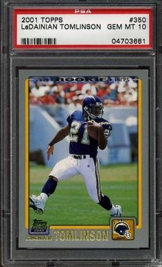 LADAINIAN TOMLINSON RC 2001 Topps #350 PSA 10 Rookie by Topps. $49.99. LADAINIAN TOMLINSON RC 2001 Topps #350 PSA 10 Rookie