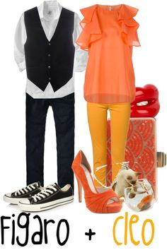 """""""Figaro and Cleo"""" by jami1990 ❤ liked on Polyvore"""