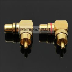5.27$  Buy now - http://alibc8.shopchina.info/go.php?t=32644148814 - 4pcs Gold Plated Right Angle RCA Adaptor Male to Female Plug Connector 90 Degree 5.27$ #aliexpress