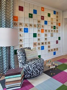 Don't have extra square feet to devote to a full-time playroom? Check out these fun and stylish solutions for adding a play area to your kid's bedroom, a home office and more. Game Room Design, Playroom Design, Playroom Decor, Playroom Ideas, Basement Ideas, Wall Decor, Pinterest Baby, Kids Bedroom, Bedroom Decor