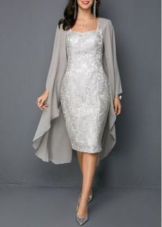 Open Front Top and Tie Back Sleeveless Sheath Dres. Open Front Top and Tie Back Sleeveless Sheath Dress Women's Fashion Dresses, Women's Dresses, Dresses For Sale, Dresses Online, Formal Dresses, Grey Dresses, Fitted Dresses, Dress Sale, Flower Dresses