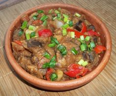 Ajapsandali - Georgian Eggplant Stew || potatoes, tomatoes, tomato puree, white onions, green onions, bay leaves, green peppers, red sweet peppers, garlic, dry coriander, red ground pepper, black ground pepper