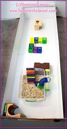 DIY hamster playpen