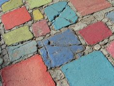 Painted concrete (Spanish Village in Balboa Park, San Diego CA)