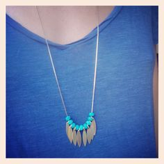 Turquoise necklace — Sautoir Indian Summer