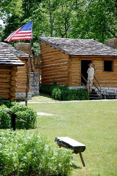 Cabins at Old Fort Harrod State Park