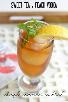 Combine sweetened iced tea with some peach vodka for a delicious summer cocktail
