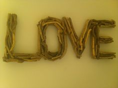 great driftwood idea.  Any word could be done