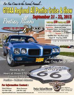 GTOAA/Pontiac Museum Regional Pontiac Show   9/21/2013 | Pontiac, IL | Car Show