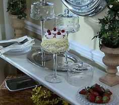 Elevate your holiday treats to the next level with this set of 3 etched pastry domes by Valerie!