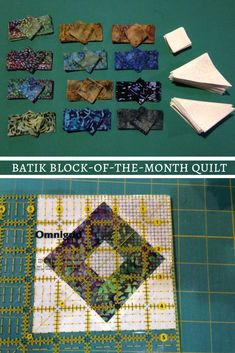 Log Cabin quilt blocks, earthy and warm colors, and Northcott Fabrics batiks... a quilter for 40 years, it's Ginger Hildred's first BOM and she's loving it! She shares how to assemble the first month's packet of the Primitive Lines block-of-the-month quilt and provides a link to the instructional video.