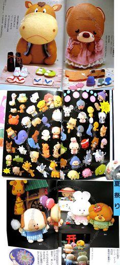 FELT Animal 190 MASCOTS Japanese Felt Craft Book. , via Etsy.