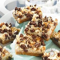 Magic Cookie Bars from Eagle Brand® - I have been making these for years during the holidays and they are yummy! I add butterscotch chips too for an extra sweet treat.