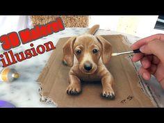 3D Malerei als optische Täuschung! Unglaubliche Illusion!! ❤ Streichle mich - YouTube