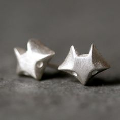 These little Fox Stud Earrings in Sterling Silver by MichelleChangJewelry, $70.00, are just too cute!