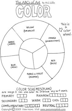 Printables Color Wheel Worksheet color wheels wheel worksheet and colors on pinterest wheel