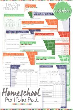 A homeschool portfolio is crucial for setting your year up for success. This homeschool portfolio printable pack will make the whole process a cinch! Come on! Let's get organized for a great year!