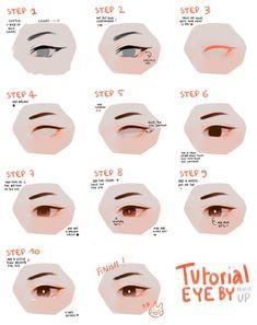 Astounding Learn To Draw Eyes Ideas Eyes Drawing Eye tutorial Eye Drawing Tutorials, Digital Painting Tutorials, Digital Art Tutorial, Drawing Tips, Art Tutorials, Drawing Ideas, Drawing Drawing, Digital Paintings, Anatomy Reference