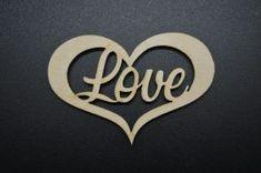 Szív vágott 'LOVE' kicsi 5db/csomag Arabic Calligraphy, Arabic Calligraphy Art