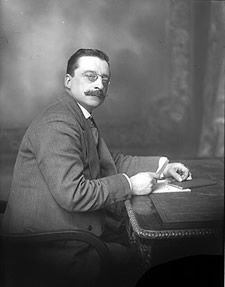 Arthur Griffith, founder of Sinn Féin, photographed at his desk c. 1914-23. #Irish #History