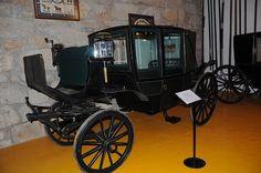 A five-glass landau carriage in Geraz do Lima Carriage museum