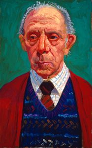 David Hockney - Ken  Wathey  January 3 1997, 1997  oil on canvas, 24x15 in.
