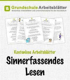 Kostenlose Arbeitsblätter und Unterrichtsmaterial für den Deutsch-Unterricht zum Thema Sinnerfassendes Lesen in der Grundschule.