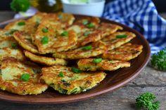 Cheesy Potato and Zucchini Fritters
