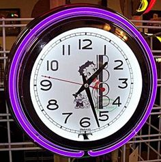 1000 images about betty boop clocks on pinterest betty for Betty boop neon wall clock