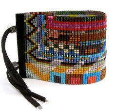 Beaded Cuff Bracelet by Julie Rofman