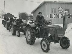 Porsche-traktorit Hankkijan arkistosta #tractor #traktorit #Porsche #talvi