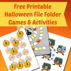 Free Printable Halloween File Folder Games and Activities Halloween Board Game, Halloween Math, Halloween Activities, Fall Halloween, File Folder Activities, File Folder Games, File Folders, Book Activities, Preschool Printables