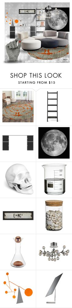 """The Science Department"" by amceren ❤ liked on Polyvore featuring interior, interiors, interior design, home, home decor, interior decorating, Safavieh, Blu Dot, L'Objet and Jay"