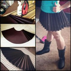 wow .-. simple way of doing a low budget pleated skirt