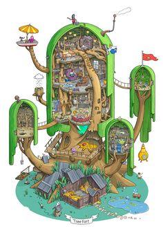 Land of Ooo. Inside the Tree Fort. on Behance by Max Degtyarev Exploring Land of Ooo. Inside the Tree Fort. on Behance by Max Degtyarev -Exploring Land of Ooo. Inside the Tree Fort. on Behance by Max Degtyarev - Abenteuerzeit Mit Finn Und Jake, Finn Jake, Adventure Time Finn, Word Adventure, Adventure Aesthetic, Adventure Tattoo, Adventure Couple, Adventure Time Marceline, Princess Adventure