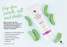 Aloe Vera Lotion, Aloe Vera Gel, Forever Aloe Lips, Forever Living Business, Forever Living Aloe Vera, Forever Living Products, Smooth Skin, How To Stay Healthy, Body Care