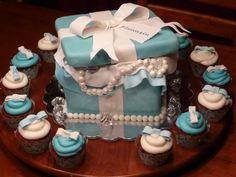 Tiffany & Co. Cake - my hubs surprised me with this for my b-day last year. Best gift from him!