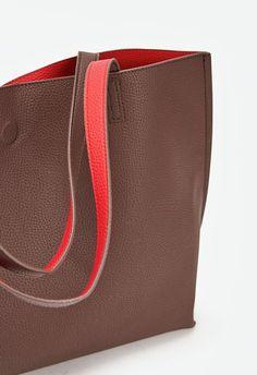 Ace Handtaschen in Chocolate/Red - günstig kaufen bei JustFab